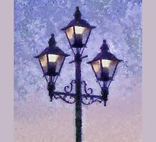 Street Lamps by Jean Gregory  Evans