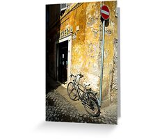 Bike In Piazza Margana Greeting Card