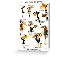 Hornbills of India Greeting Card