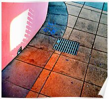 sunset with drainholes Poster