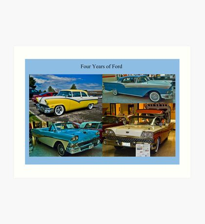 Four Years of Ford Art Print