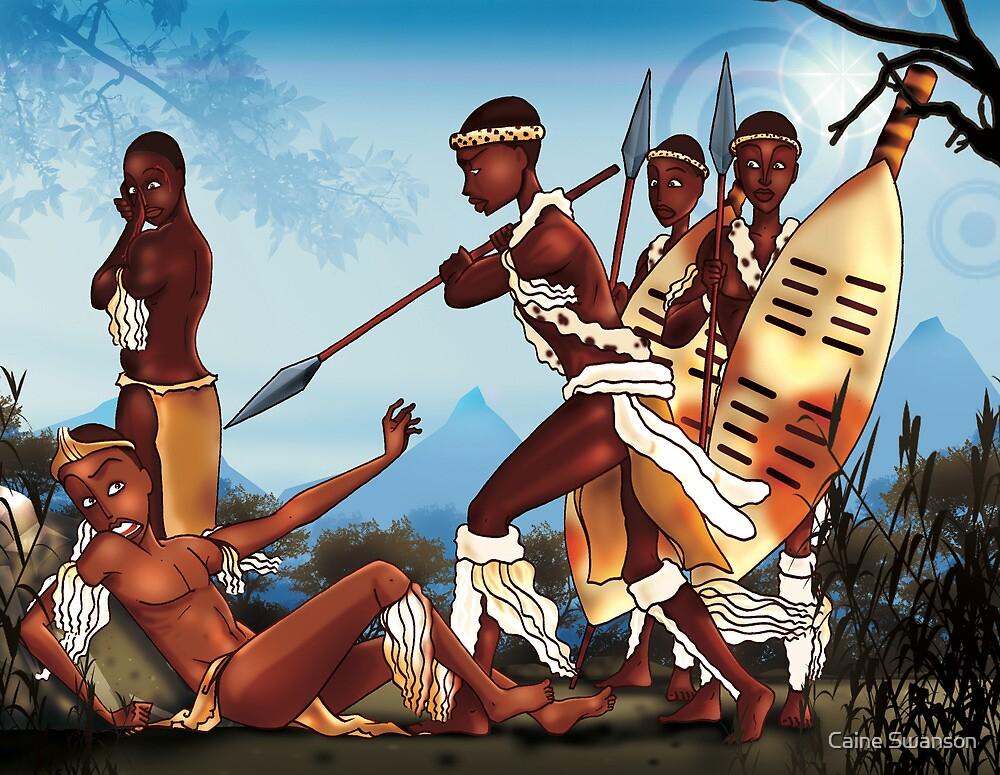 African warrior battle by Caine Swanson