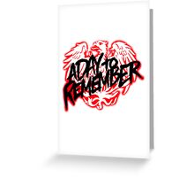 A Day To Remember Band Logo Greeting Card