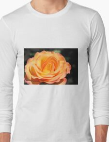 Beautiful yellow rose flower picture. Floral photo art. Long Sleeve T-Shirt