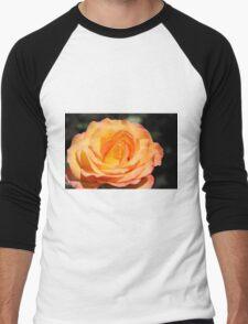 Beautiful yellow rose flower picture. Floral photo art. Men's Baseball ¾ T-Shirt