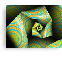 Folding and Pleating A Paper Spiral II Canvas Print