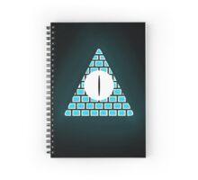 Bill Cipher Notebook (Blue) Spiral Notebook
