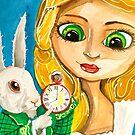 ALICE IN WONDERLAND WHITE RABBIT by gordonbruce