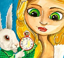 ALICE IN WONDERLAND WHITE RABBIT by gordonbruce