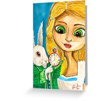 ALICE IN WONDERLAND WHITE RABBIT Greeting Card