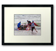 Racing at Penguin (48) Framed Print