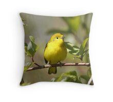 Yellow Warbler 01 Throw Pillow