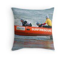 Racing at Penguin (57) Throw Pillow