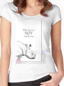 Rhino horn myth Women's Fitted Scoop T-Shirt
