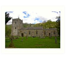 St Oswald's Church - Arncliffe Art Print