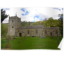 St Oswald's Church - Arncliffe Poster