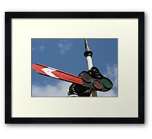 Give me a sign! Puffing Billy's signal. Framed Print