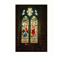 Window #1 - St Oswald's Church - Arncliffe Art Print