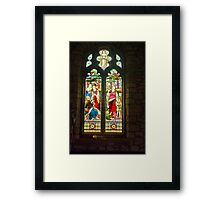 Window #1 - St Oswald's Church - Arncliffe Framed Print