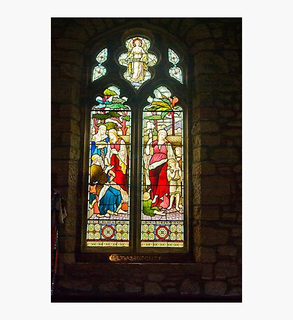 Window #1 - St Oswald's Church - Arncliffe Photographic Print