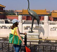 When life mimics art - Beijing China by Norman Repacholi