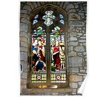 Window #3 - St Oswald's Church - Arncliffe Poster