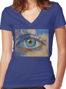 Eye Women's Fitted V-Neck T-Shirt