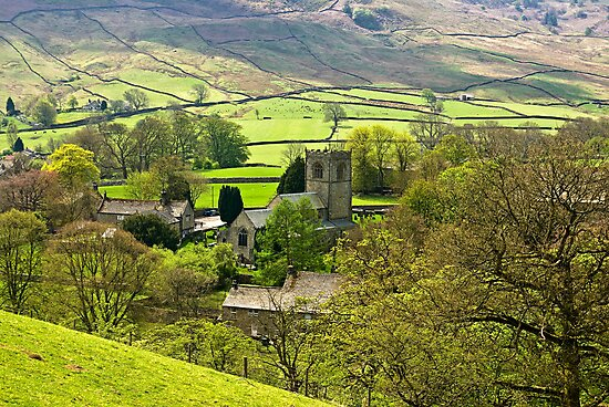 The Village Church at Burnsall by Trevor Kersley
