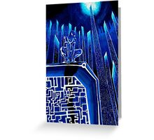 Spider Tron Greeting Card
