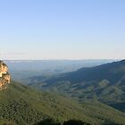 Overlooking the Jamison Valley, Katoomba NSW by Ben Shaw