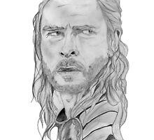 Thor/Chris Hemsworth Portrait  by PhilippaDMTW