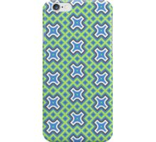 'Boxcross' Blue and Green Geometric Pattern iPhone Case/Skin