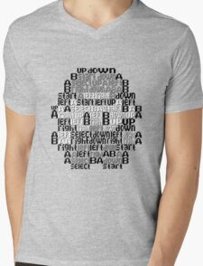 Typography TPP Mens V-Neck T-Shirt