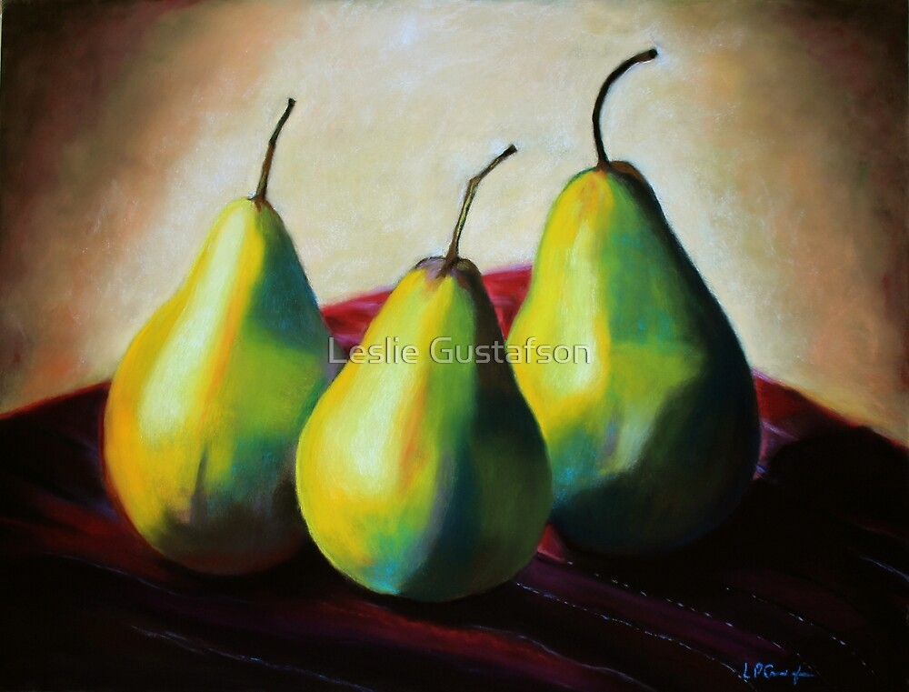 Trio of Pears by Leslie Gustafson