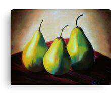 Trio of Pears Canvas Print