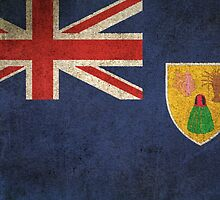 Old and Worn Distressed Vintage Flag of Turks and Caicos by Jeff Bartels