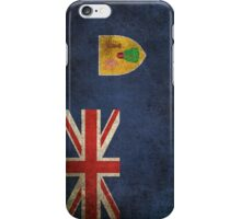 Old and Worn Distressed Vintage Flag of Turks and Caicos iPhone Case/Skin