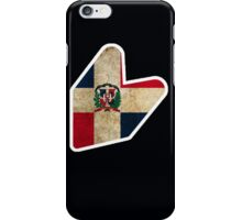 JDM DOMINICAN FLAG  iPhone Case/Skin