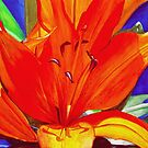 Big Orange Lily by Leslie Gustafson