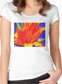 Big Orange Lily Women's Fitted Scoop T-Shirt