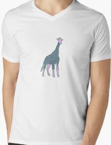 Giraffe Mens V-Neck T-Shirt