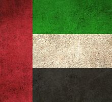 Old and Worn Distressed Vintage Flag of United Arab Emirates by Jeff Bartels