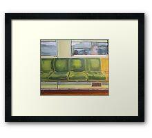 Train Seats Framed Print
