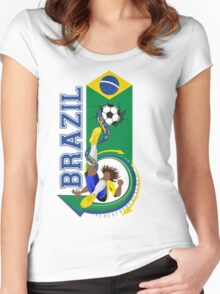 Brazil soccer Women's Fitted Scoop T-Shirt