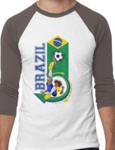 Brazil soccer Men's Baseball ¾ T-Shirt