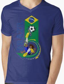 Brazil soccer Mens V-Neck T-Shirt