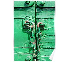 Green trailer & rusty chain Poster
