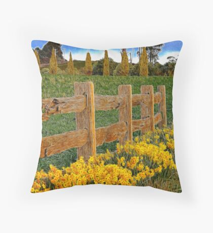 Springing into spring Throw Pillow