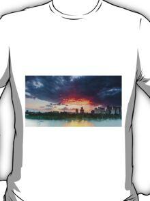 River Fire - Brisbane Qld Australia T-Shirt