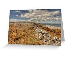Burren limestone landscape Greeting Card